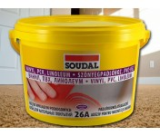 Клей для напольных покрытий Soudal 26A, светло-коричневый, ведро 15 кг