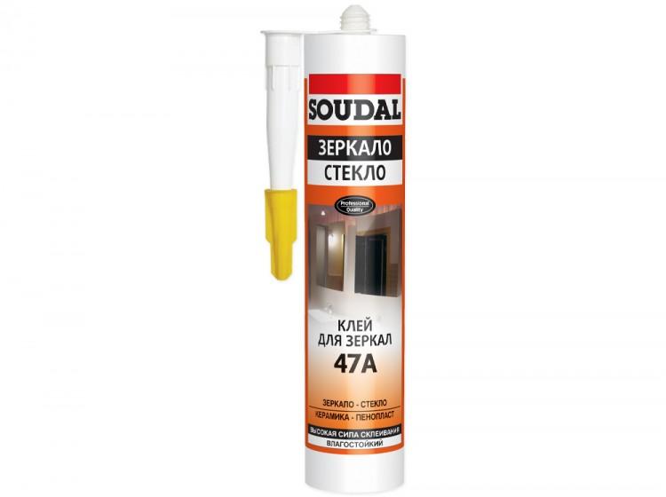 Soudal 47A Зеркало Стекло, каучуковый монтажный клей для зеркал и стекол, бежевый, туба 280 мл