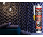 Soudal Clear Fix Плинтусы Лепнина, каучуковый монтажный клей, бесцветный, туба 280 мл