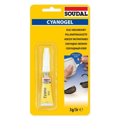 Cyanofix Soudal 84A, секундный клей, бесцветный, тюбик 3 г