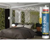 Mirobond, профессиональный эластичный силиконовый клей для зеркал, светло-серый, туба 310 мл