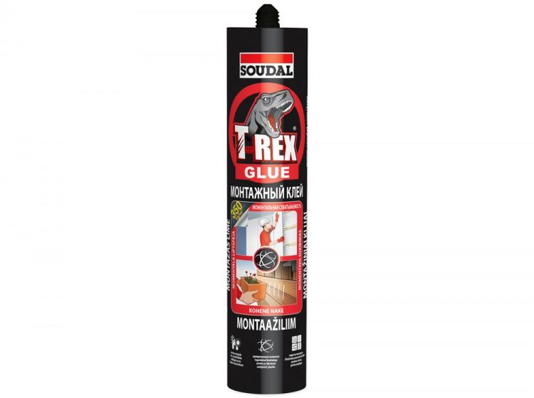 T-REX Red Моментальная схватываемость, монтажный клей с волокном, белый, туба 380 г