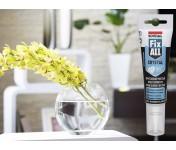 Fix All Crystal, идеально-прозрачный МС-полимерный клей-герметик, бесцветный, тюбик 125 мл