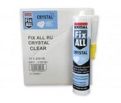Fix All Crystal, идеально-прозрачный МС-полимерный клей-герметик, бесцветный, туба 290 мл