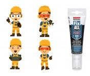 Fix All Flexi, универсальный МС-полимерный клей-герметик, белый, тюбик 125 мл