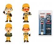 Fix All Flexi, универсальный МС-полимерный клей-герметик, белый, тюбик 80 мл