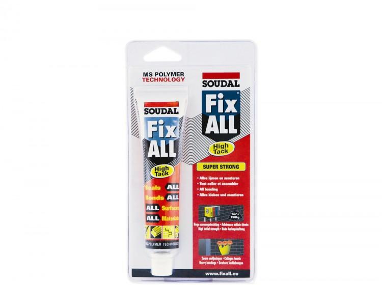 Fix All High Tack, МС-полимерный клей-герметик с большой начальной липкостью, белый, тюбик 80 мл