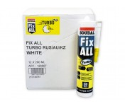 Fix All Turbo, супер-быстрый МС-полимерный клей-герметик с высокой прочностью склеивания, белый, туба 290 мл