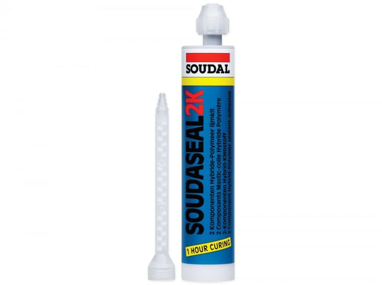 Soudaseal 2K, двухкомпонентный эластичный МС-полимерный клей-герметик, серый, туба 250 мл