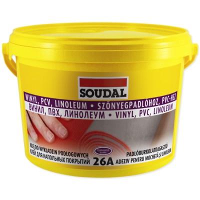 Для напольных покрытий Soudal 26A 5 кг