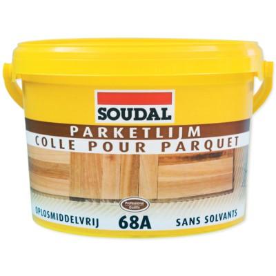 Паркетный клей Soudal 68A, бледно-коричневый, ведро 15 кг
