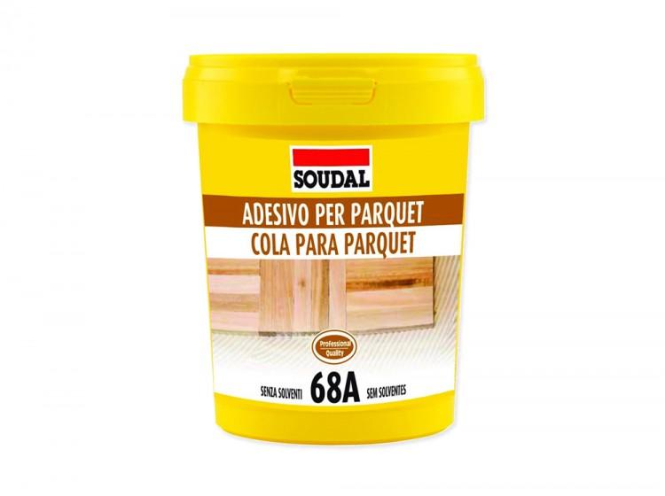 Паркетный клей Soudal 68A, бледно-коричневый, банка 5 кг
