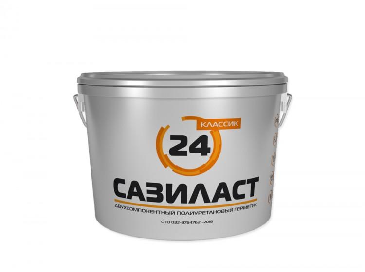 Сазиласт 24, полиуретановый двухкомпонентный герметик для швов, белый, ведро 6.6 кг