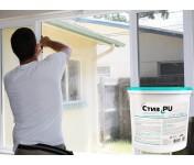 Стиз PU, двухкомпонентный пароизоляционный полиуретановый герметик для внутренних слоев монтажных швов, белый, ведро 6.6 кг