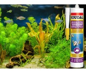 Silirub AQ, силиконовый клей-герметик для аквариумов и витрин, черный, туба 280 мл