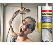 Нейтральный санитарный силиконовый герметик Soudal Кухни Ванные, белый, туба 280 мл