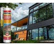 Нейтральный силиконовый герметик Soudal Строительство Ремонт, коричневый, туба 280 мл