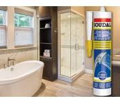 Санитарный силиконовый герметик Soudal Кухни Ванные, бесцветный, туба 280 мл