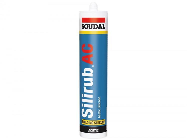 Silirub AC, силиконовый герметик для остекления, черный, туба 300 мл