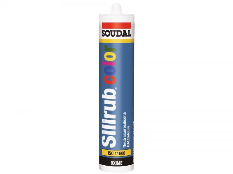 Silirub Color, нейтральный силиконовый герметик, RAL 6022 коричнево-оливковый, туба 300 мл
