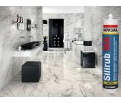 Silirub MA, силиконовый герметик для мрамора и гранита, серый, туба 310 мл
