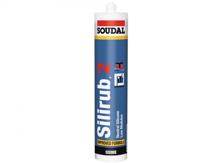 Silirub 2, нейтральный силиконовый герметик, бесцветный, туба 300 мл
