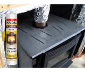Calofer, силикатный герметик для печей и каминов, черный, туба 280 мл