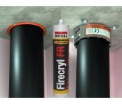 FireCryl FR, огнестойкий акриловый герметик B1, серый, туба 310 мл