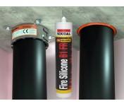 FireSilicone B1 FR, огнестойкий силиконовый герметик, серый, туба 310 мл