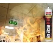 FireSilicone B1 FR, огнестойкий силиконовый герметик, белый, туба 310 мл