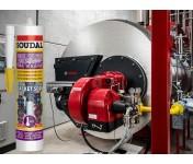 Gasketseal, высокотемпературный силиконовый герметик Soudal Жидкое уплотнение, красный, туба 280 мл