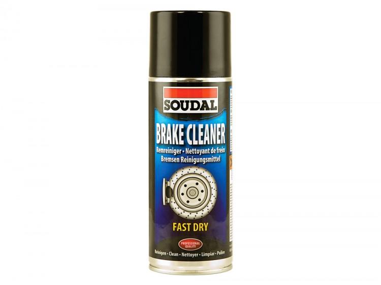 Soudal Brake Cleaner, очиститель тормозных механизмов, баллон 400 мл