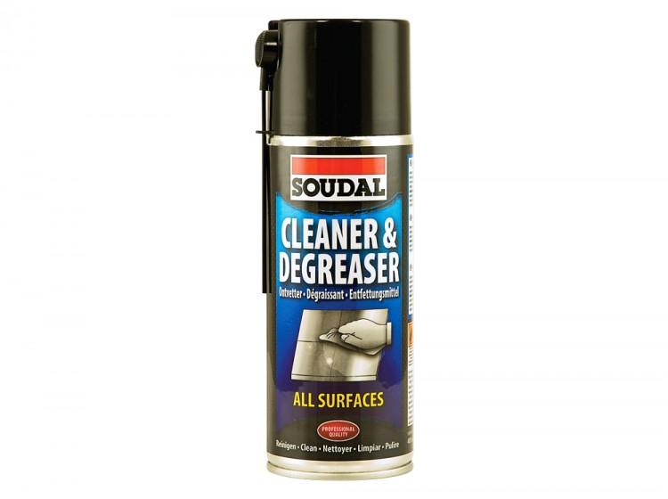 Soudal Cleaner&Degreaser, очиститель и обезжириватель поверхностей, баллон 400 мл