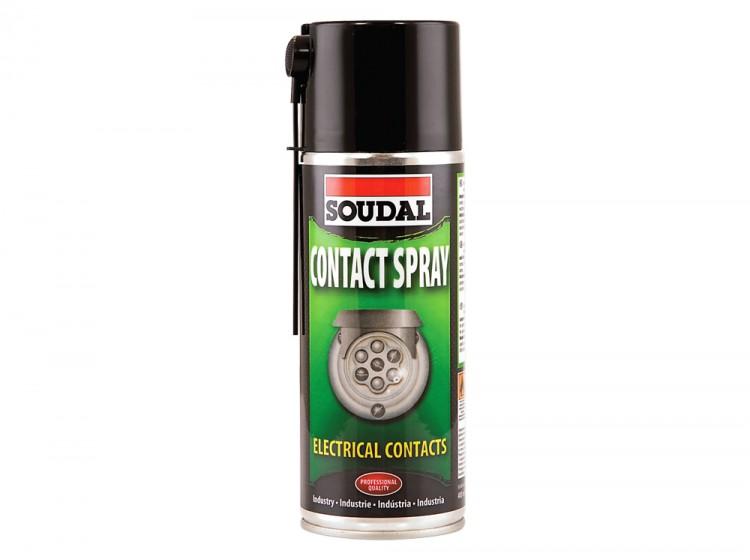 Soudal Contact Spray, смазка на основе минерального масла для контактов, баллон 400 мл