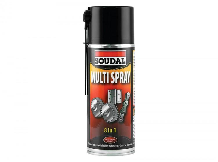 Soudal Multi Spray, многофункциональная смазка, баллон 400 мл