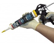 Biber, полукорпусный желтый пистолет для герметиков и клеев в тубах по 270-310 мл