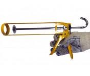 Soudal Skeleton, желтый скелетный пистолет для герметиков и клеев в тубах по 270-310 мл